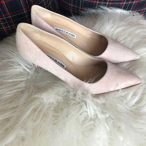 MANOLO BLAHNIK suede low heels- size 7.5